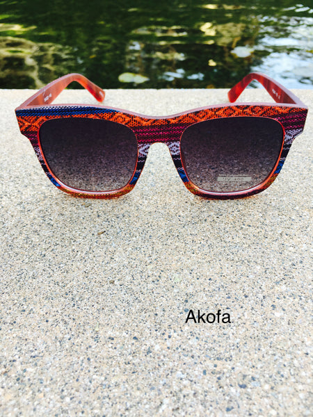 African print frame sunglasses