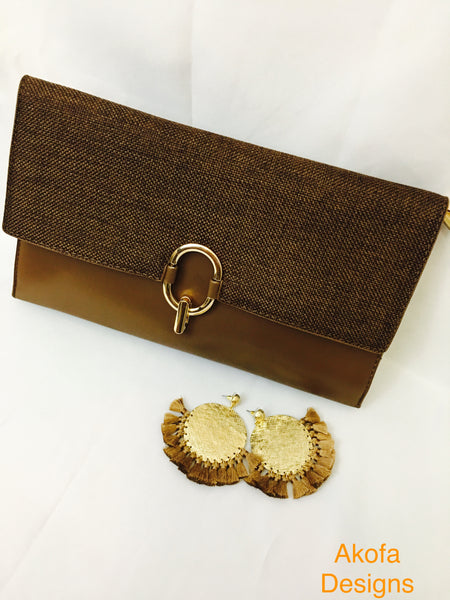 Clutch bag with matching earrings