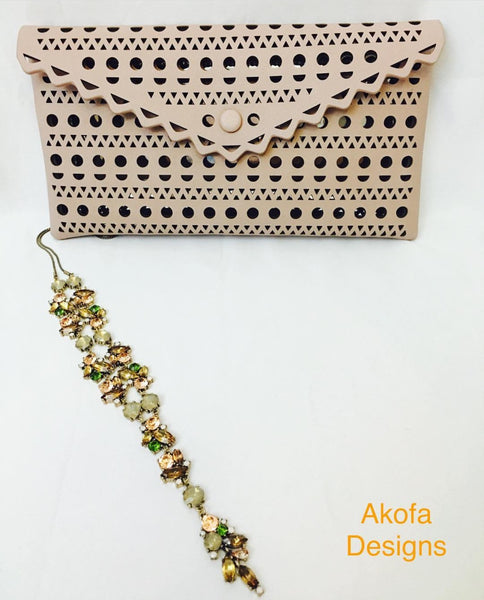 Clutch bag and matching necklace