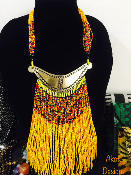 Touareg beaded necklace