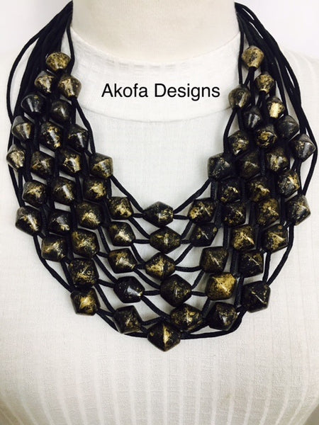 brown beads necklace