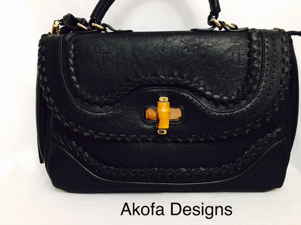Black bag with beautiful details
