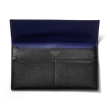 BUSINESS CLASSIC Long Wallet - Black/Royal Purple