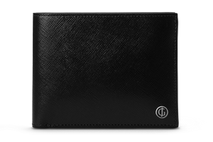 BUSINESS CLASSIC Bifold Wallet - Black/Royal Purple