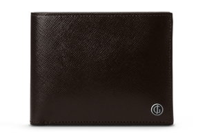BUSINESS CLASSIC Bifold Wallet - Dark Brown/Yellow Ochre