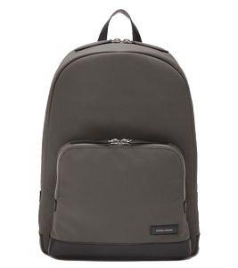 PURITY Leather-Trimmed Nylon Backpack - L / Grey