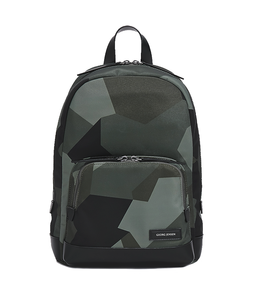 3812e311e131 PURITY Leather-Trimmed Nylon Backpack - S   Camouflage – Georg ...