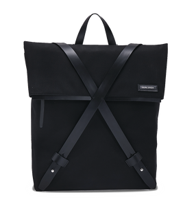 INFINITY Leather-Trimmed Nylon Backpack - Black