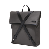 INFINITY Leather-Trimmed Nylon Backpack - Grey