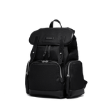 KRIGER Leather-Trimmed Nylon Backpack - S / Black