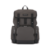 KRIGER Leather-Trimmed Nylon Backpack - S / Grey
