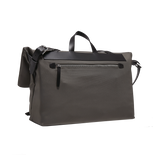 INFINITY Leather-Trimmed Nylon Messenger Bag - Grey