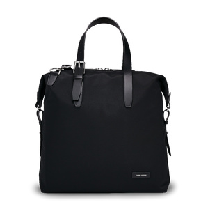 MUUTOS Leather-Trimmed Nylon Tote Bag - Black