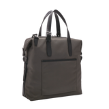 MUUTOS Leather-Trimmed Nylon Tote Bag - Grey