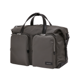 KNARR Leather-Trimmed Nylon Briefcase - Grey