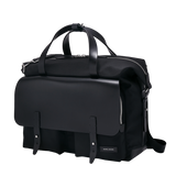 KRIGER Leather-Trimmed Nylon Briefcase - Black