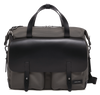 KRIGER Leather-Trimmed Nylon Briefcase - Grey