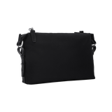 KNARR Leather-Trimmed Nylon Shoulder Bag - Black