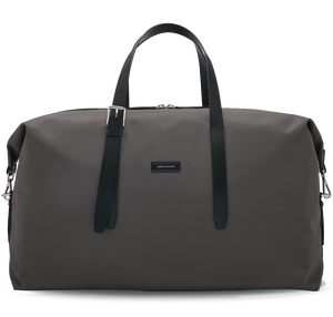 MUUTOS Leather-Trimmed Nylon Duffle Bag - L / Grey