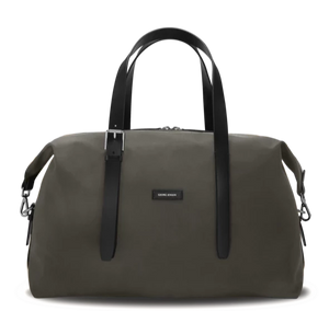 MUUTOS Leather-Trimmed Nylon Duffle Bag - M / Grey