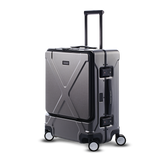 "INFINITY Polycarbonate 22"" Front Pocket Carry-On - Gun Metal"