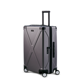 INFINITY Polycarbonate Checked 26'' Luggage - Gun Metal