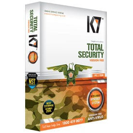 K7 Total Security Antivirus For 1 Year Slim Pack