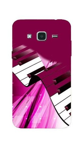 Cell First Silicon Designer Back Cover For Samsung Galaxy J3 - Pink Piano