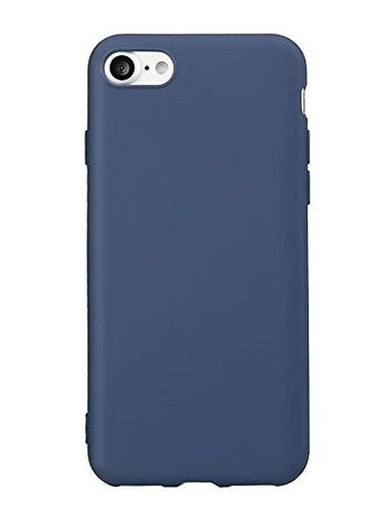 Kolorfish Simple Thin Silicon Rubber Back Case Cover for Apple iPhone 7 (Navy Blue)