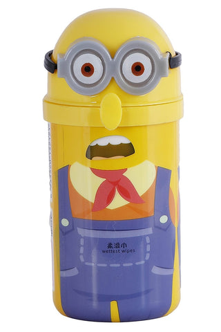 Brain Buzz Minion Wet Wipes with Reusable TIN/Container (30 Wet Wipes)