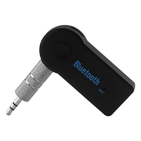 ApeCases Wireless Bluetooth Receiver, Portable 3.5mm Streaming Car A2DP Wireless Bluetooth AUX Audio Music Receiver Adapter with Microphone for iPhone Samsung Android Cell Phones
