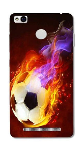Cell First Designer Back Cover For Xiaomi Redmi 3S  - Fire Football