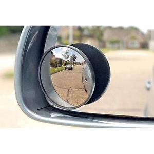 2 X Blind Spot Mirror, Convex Mirrors, Side View Silver Corner Border Wide Angle