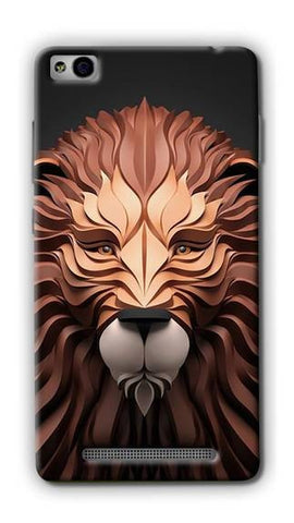 Cell First Designer Back Cover for Xiaomi Redmi 3S - Lion
