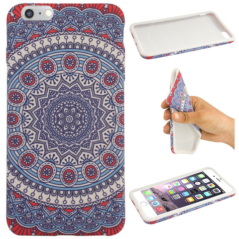 DMG Designer Rubber TPU Soft Silicone Protective Back Cover Case Apple iPhone 6 / 6s (Rangoli)