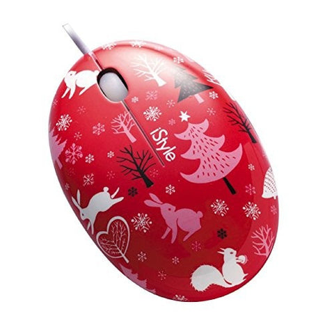 KolorFish iEgg USB Optical Mouse iStyle Designer Series Red