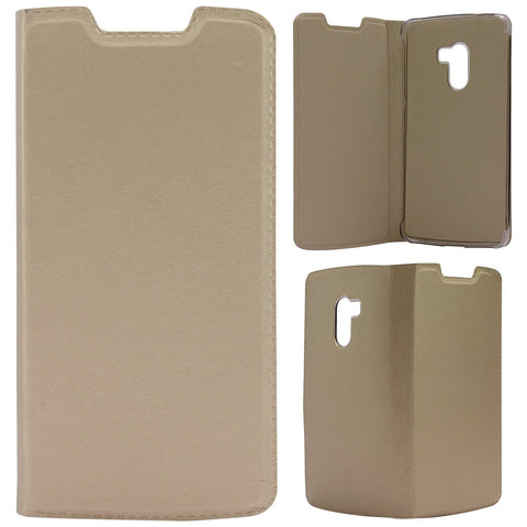 DMG EXCLUSIVE Firm Grip PU Leather Flip Cover Case for Lenovo Vibe K4 Note (Gold)