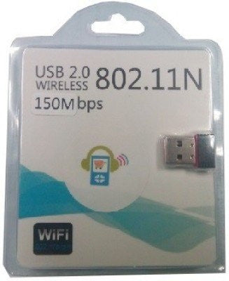Gadget-Wagon 150 Mbps Wifi Receiver Mini USB Adapter for Laptops/Desktops