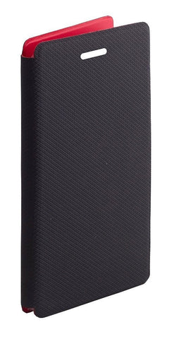Credo-Premium Luxury PU Leather Flip Case Cover For Intex Cloud Breeze - (Black)