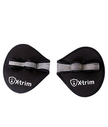 X-trim Fitness Grip Pad Weight Lifting Gloves (Grey)