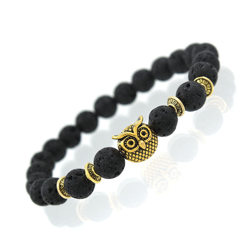 2017 New Owl Natural Stone Beads Bracelet