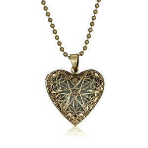 Hollow Heart Glow in the Dark Necklace