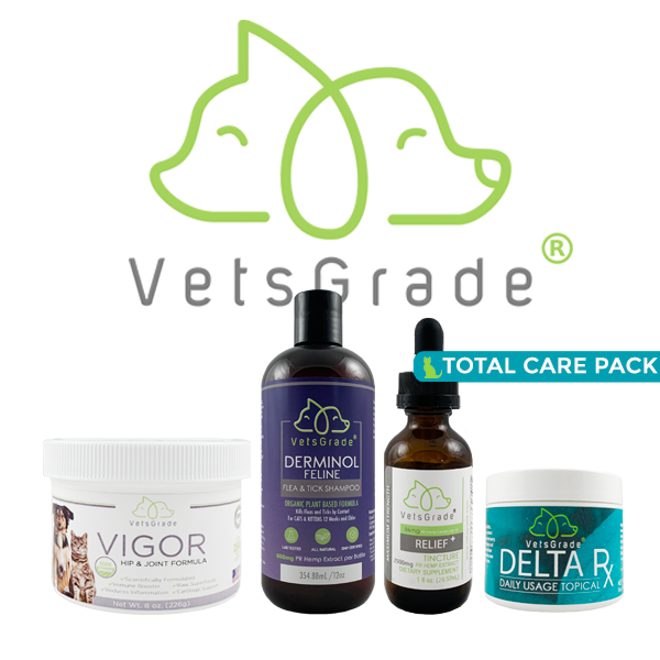 VetsGrade® |  Cat Total Care Pack  |  3100mg PR Hemp Extract Total |  Pet Bundle