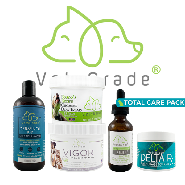 VetsGrade® |  Dog Total Care Pack  |  4200mg PR Hemp Extract Total |  Pet Bundle