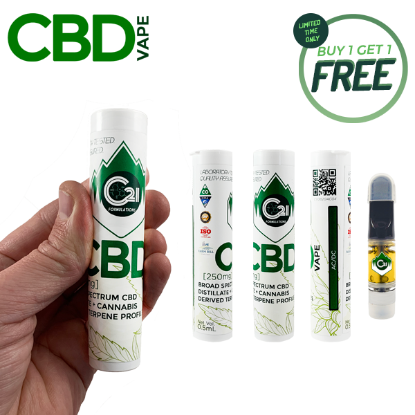 Foothills CBD | CBD Vape Cartridge | 0.5mL | BOGO | BFCM Deals