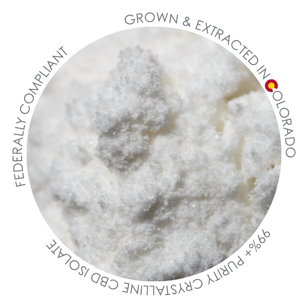 Foothills CBD | CBD Isolate | 99%+ Purity Crystalline | 3-6μ (Micronized)
