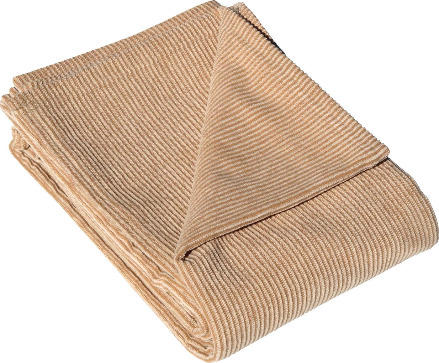 "Brown/Natl Stripe Chenille 46 x 67"" Throw Blanket"