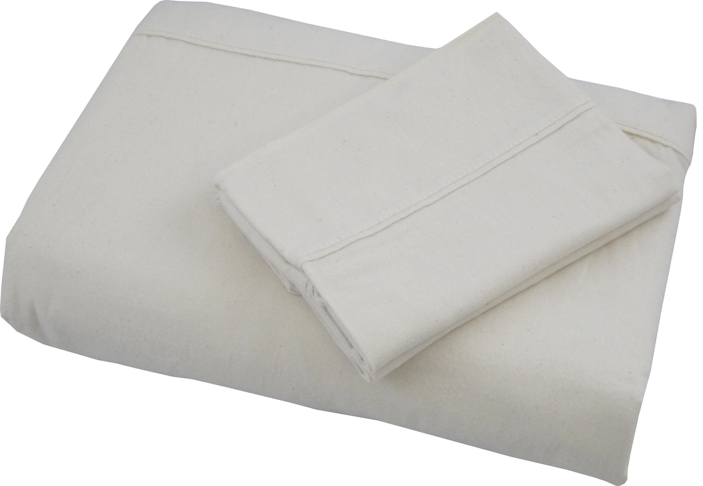 Natural Organic Cotton 165 gsm FLANNEL Sheet Set