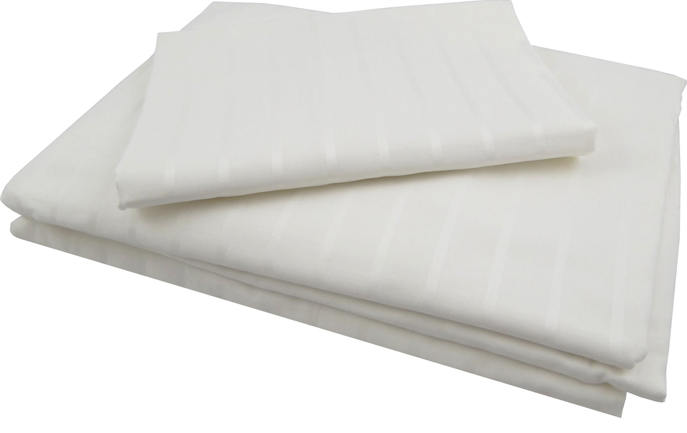Luxury Striped Whitened Sheet Set 400 tc