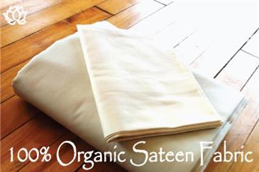 Duvet Covers Organic Sateen in Natural on BOTH SIDES (WLH D)
